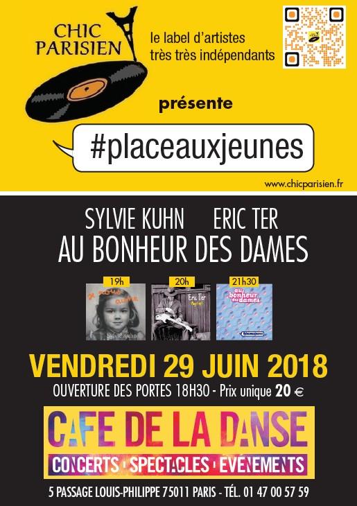 Affiche du concert d'Eric Ter au Café de la Danse le 29 juin 2018